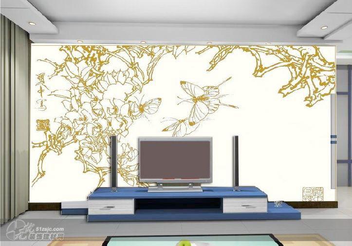 影视墙设计2 涂涂手绘彩绘壁画工作室作品 家居设计图库 效果图,