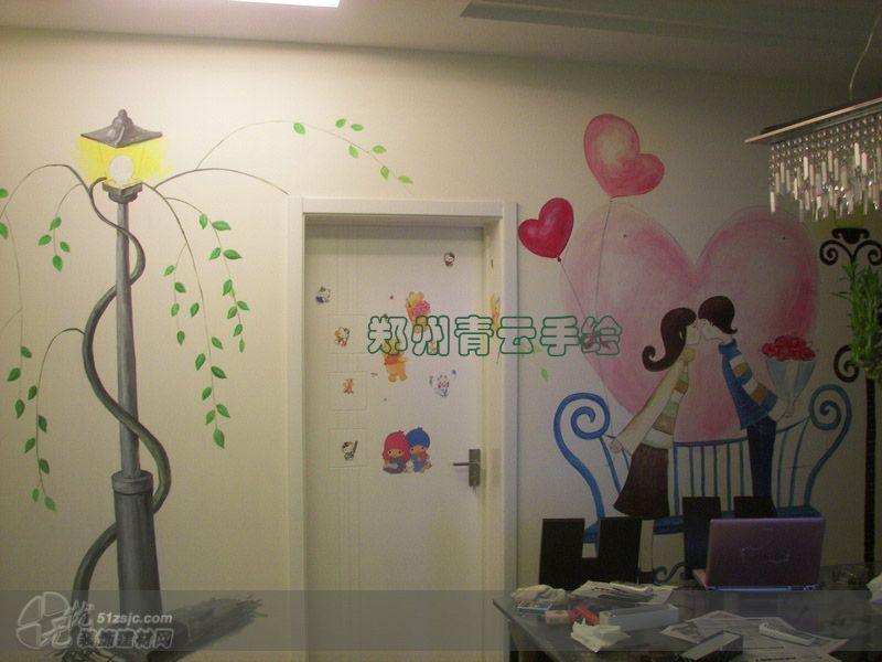 家居墙绘 郑州手绘墙 郑州青云墙绘作品 家居设计图库 效果图,实