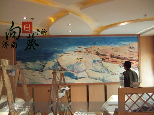 咖啡 济南向日葵手绘工作室作品 家居设计图库 效果图,实景图,